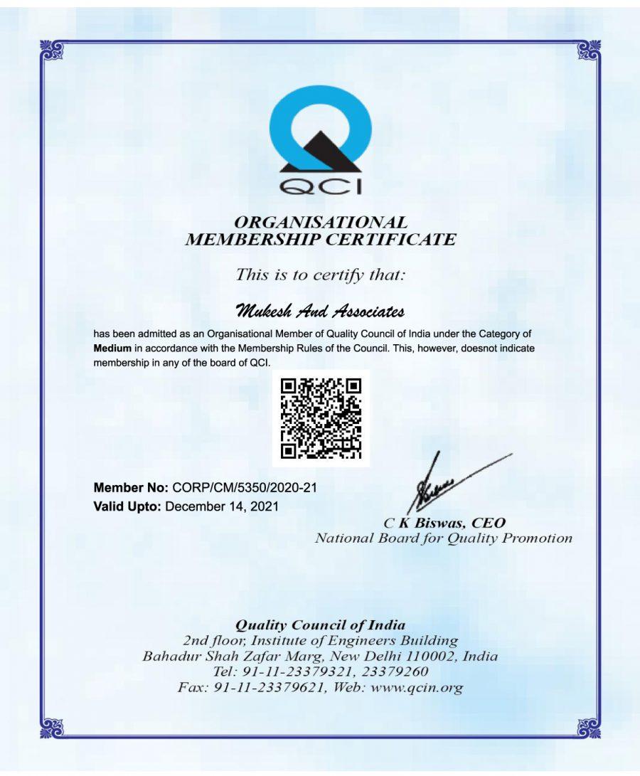 QCI-Certificate